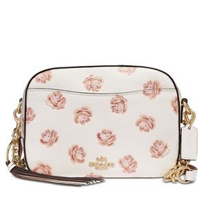 Coach Rose Print Crossbody and Coin Purse NWT